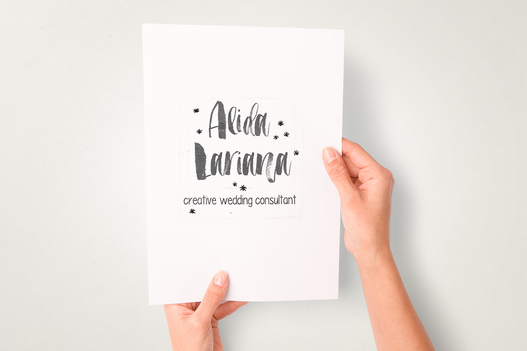 Logo wedding planner fatto a mano.