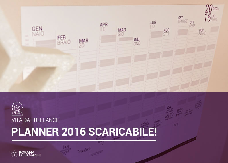 PLANNER SCARICABILE 2016